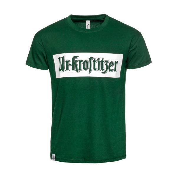 Ur-Krostitzer T-Shirt Block grün/weiß